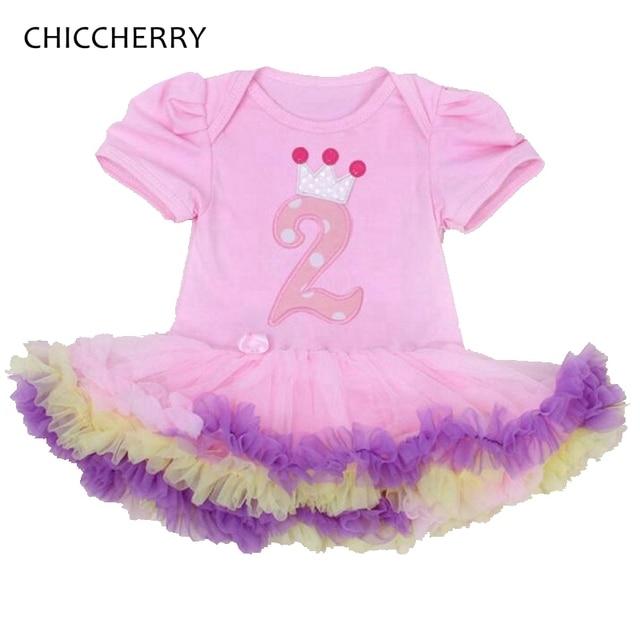 2 años bebé niña vestido de cumpleaños Encaje Tutu partido Vestidos ...