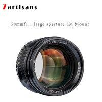 7artisans 50 мм f1.1 параксиальных лм mount объектив с широкой диафрагмой и портретный объектив для камеры Leica M M, M240, M3, M5, M6, M7, M8, M9, M9P, M10