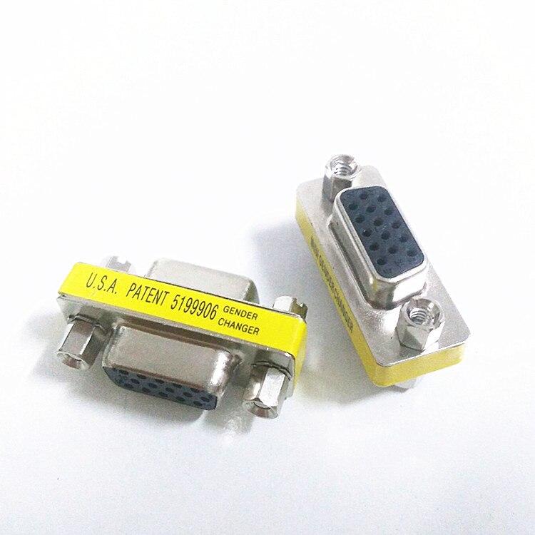 VGA15 hole to 15 holes VGA female to female VGA connector VGA through head