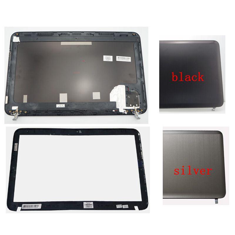 NEW LCD back cover/LCD front bezel For HP Pavilion DV6 DV6-6000 665288-001 640417-001 silver/black new bottom base cover for hp pavilion dv6 dv6 6000 677174 001 640419 001 black