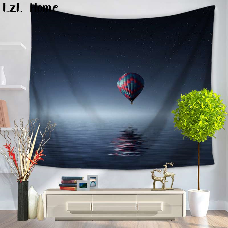 Lzl home outer space decor tapestry the parachute on the for Outer space decor