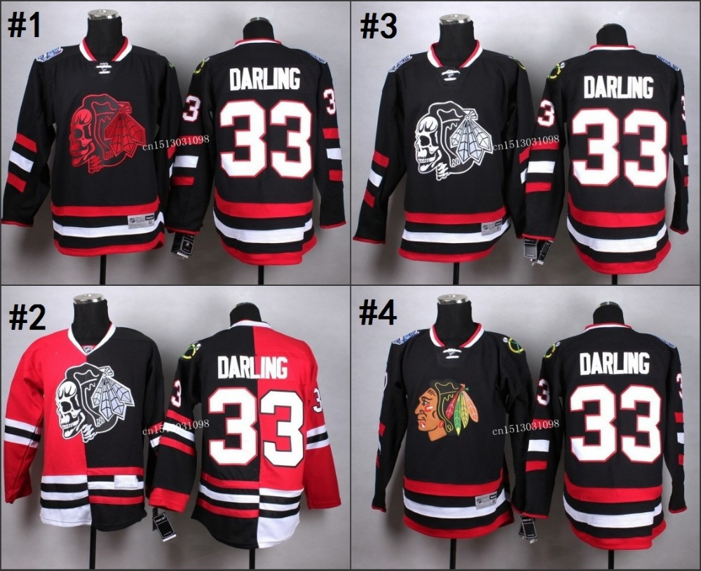 low priced 60a3b 1ca03 2015 Chicago Blackhawks #33 darling black red Split Red ...