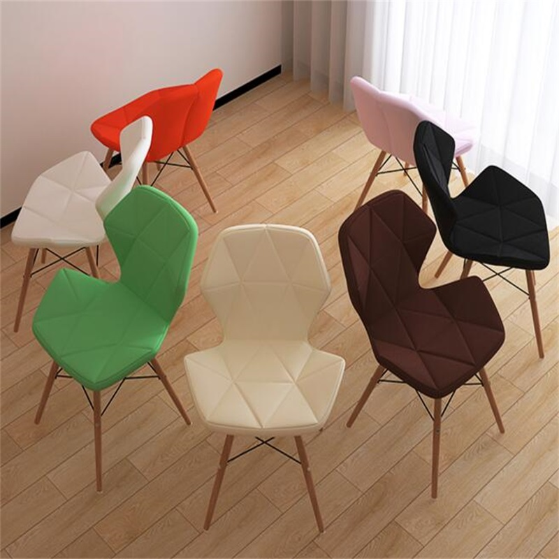PU Leather Dining Chair Fashion Conference Meeting Chair Modern Computer Backrest Chair 240337 ergonomic chair quality pu wheel household office chair computer chair 3d thick cushion high breathable mesh
