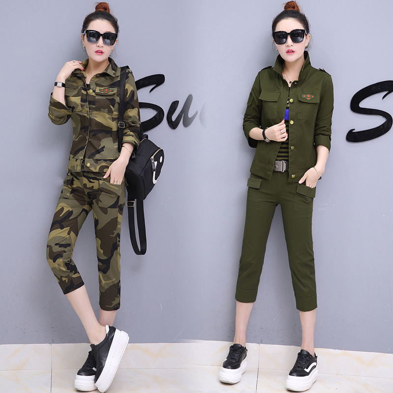 Buy military quality2017 Military Uniform Camouflage Women Set Pants+Short Jacket Suits Brand Suit Women Set Clothing for $43.90 in AliExpress store