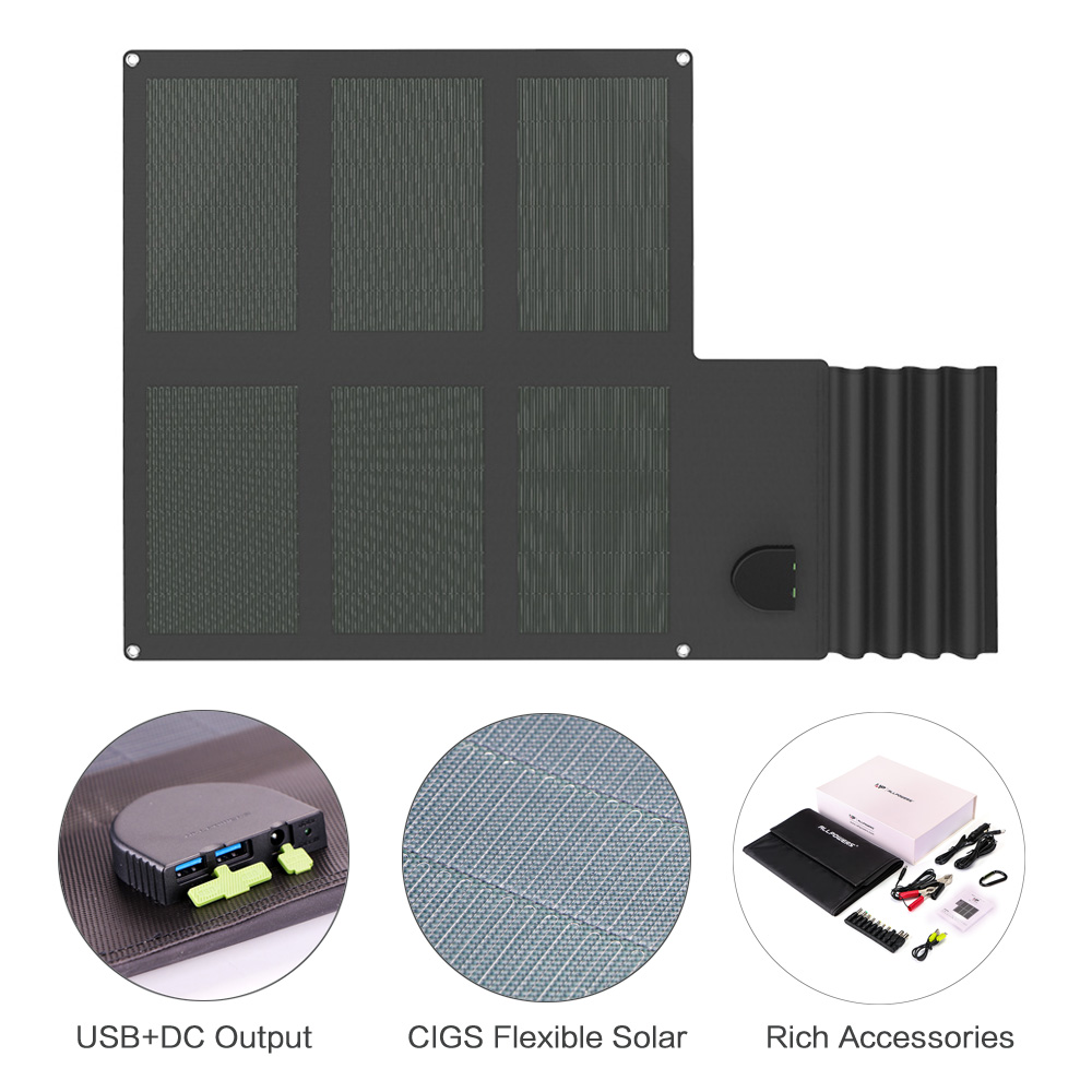 Newest CIGS Flexible Solar Panel Charger Waterproof Solar Charger with DC and Dual USB Output for iPhone Samsung Huawei Sony etcNewest CIGS Flexible Solar Panel Charger Waterproof Solar Charger with DC and Dual USB Output for iPhone Samsung Huawei Sony etc