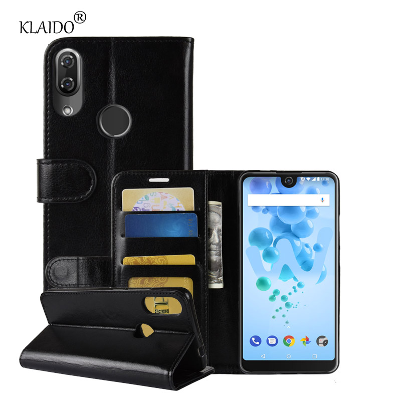 Phone Leather Cases For Wiko View 2 Pro Cover Wallet Case With Stand Mobile Phone Accessories Parts Klaido Pouch Case