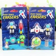 Space Eraser Novelty Mini Rocket Astronaut Rubber Eraser for Kids as School Prize 24-Pack