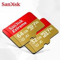 SanDisk Экстремальная карта памяти 64 Гб 32 Гб microSDHC/micro SDXC UHS-I micro SD карта U3 скорость чтения до 100 МБ/с./с TF карта V30 4 K UHD