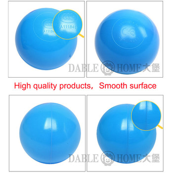 200pcs/bag Eco-Friendly Colorful Soft Plastic Water Pool Ocean Wave Ball Baby Funny Kids Toys Stress Air Ball Outdoor Fun Sports 1