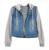 Clothing fanala outono inverno mulheres jaqueta feminina 2017 calças de brim azul com capuz manga longa casaco denim cordão plus size outerwear