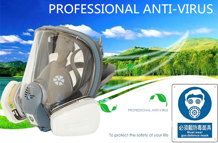 6800 Organic Vapor Cartridge Respirator Gas Mask Full Face Facepiece Respirator Suit Anti-dust formaldehyde Painting Spraying