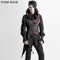 PUNK RAVE Magnificent Gothic Vest Top sale New Design Cowboy Waistcoat For Men Solid Turn down Collar Single Breasted