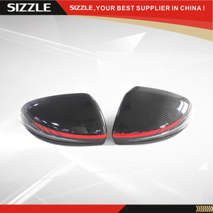 Replacement C63 Style Carbon Fiber Mirror Cover With Red Line For Mercedes LHD W205& X205&W222& W213 2014+