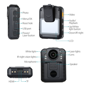Image 3 - BOBLOV WN9 Wearable Body Worn Camera Novatek 96650 HD 1296P Police Cam 170 Degree 2 Inch Screen Security Police Camera