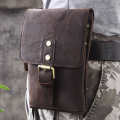 Hot Sale Top Quality Genuine Real Leather Cowhide men vintage Messenger Bag Pouch Waist Pack Bag 611-15