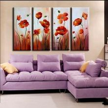 Modern TOP Decor ART flower painting Large 100% handpaint oil NO Frame