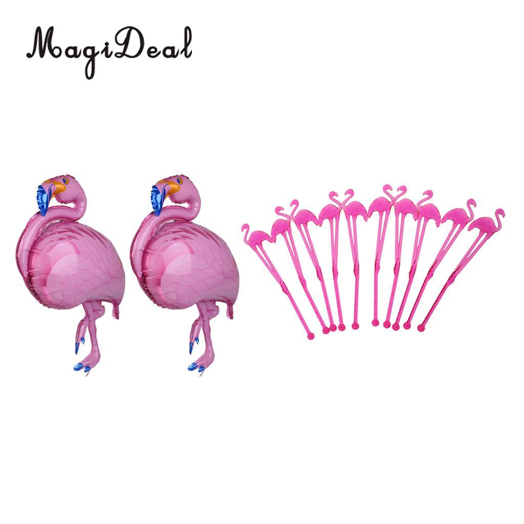MagiDeal Hawaii Flamingo Sticks Swizzle Cocktail Stir Bar Dinning Drink Stirrers Set of 20