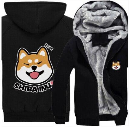 Новые зимние Товары для собак Толстовка аниме Шиба ину пальто с капюшоном Для мужчин Для женщин сгущает Хлопок Толстовка