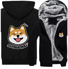 ใหม่ฤดูหนาวสุนัขเสื้อกันหนาวหมวกอะนิเมะชิบะอินุเสื้อคลุมด้วยผ้าผู้ชายผู้หญิงข้นเสื้อยืดผ้าฝ้าย