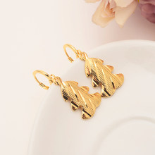 gold drop earring Ethiopian/Nigeria/Kenya /Ghana Gold color Dubai african Arab Middle Eastern Jewelry Mom Gifts(China)
