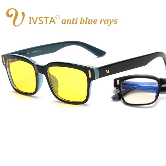 d5a87134d8a74 IVSTA Revestimento Dos Homens Luz Azul Computador Óculos anti raios azuis  Óculos de Jogos para computador