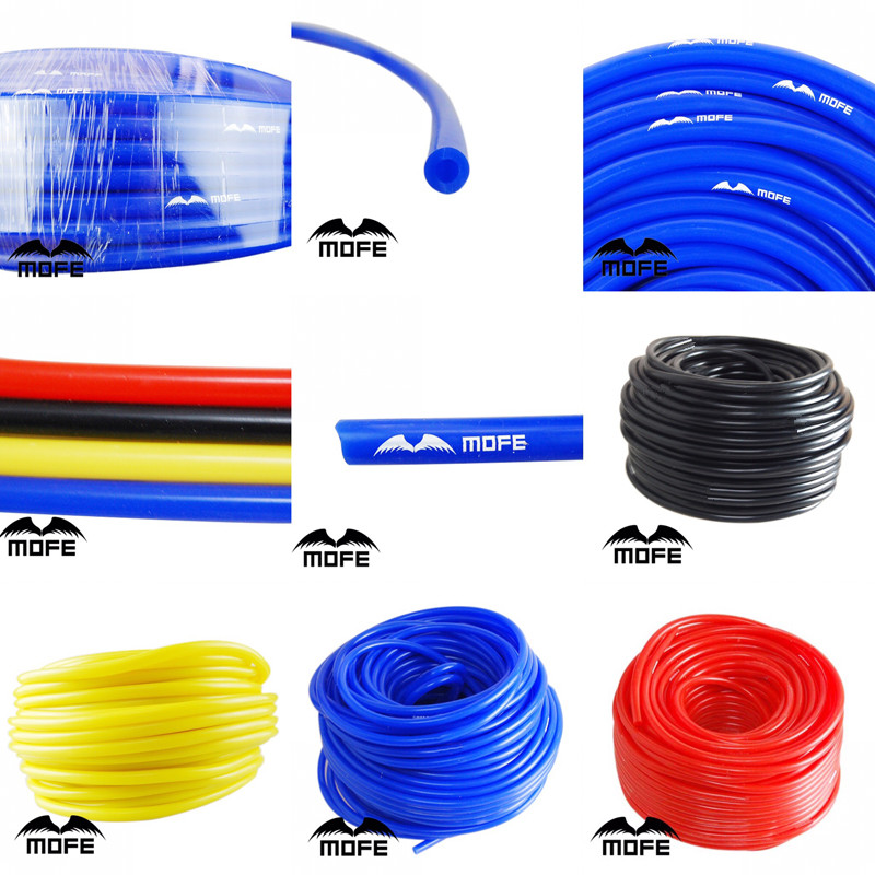 MOFE Universal 1M 3mm/4mm/6mm/8mm Silicone Vacuum Tube Hose Silicon Tubing Blue Black Red Yellow Car Accessories image