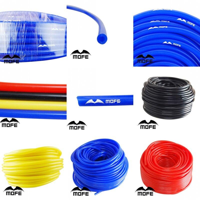 Mofe universal 1 m 3mm/4mm/6mm/8mm mangueira de tubo de vácuo de silicone tubo de tubo de silicone azul preto vermelho amarelo acessórios do carro