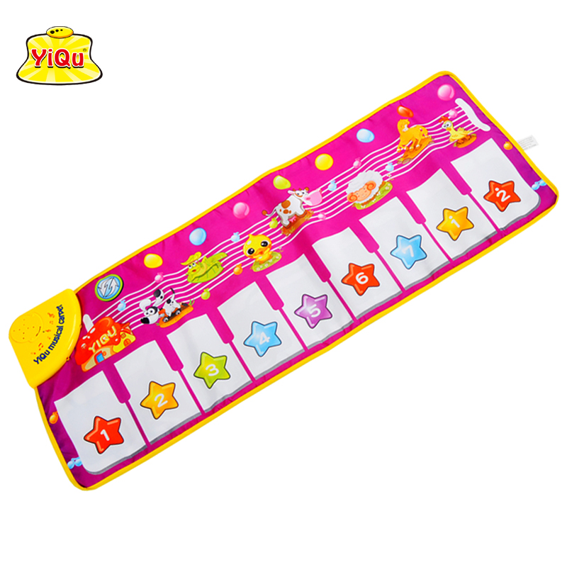Free shipping 100*40cm big size baby music carpet baby music play mat baby Piano music blanket rug toy animal and piano mode
