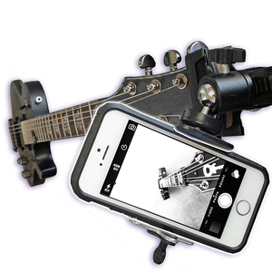 Image 1 - גיטרה Ukulele Smartphone קיבוע הר מחזיק עבור Gopro פעולה מצלמות אביזרי טלפונים סלולרי מצלמה הר Bracket מתאם