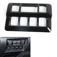 YAQUICKA фар автомобиля кнопка включения лампы рамы накладка укладки Стикеры для Subaru XV 2018 наклейка аксессуары углеродного волокна ABS