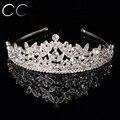 New Classic Queen Top Crystal Tiaras Coronas para Las Mujeres de Moda cabello Joyas para Novias Brillo Lleno de puro de La Boda de Compromiso F031