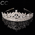 New Classic Top Rainha Coroas Tiaras de Cristal para As Mulheres Da Moda Jóia do cabelo para Noivas Brilhar Cheio de pura Casamento Do Noivado F031
