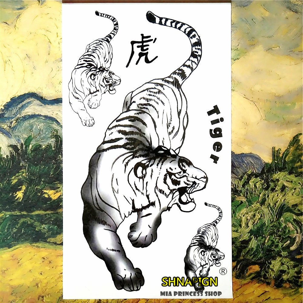 Popular white tiger tattoos buy cheap white tiger tattoos for Painless permanent tattoos