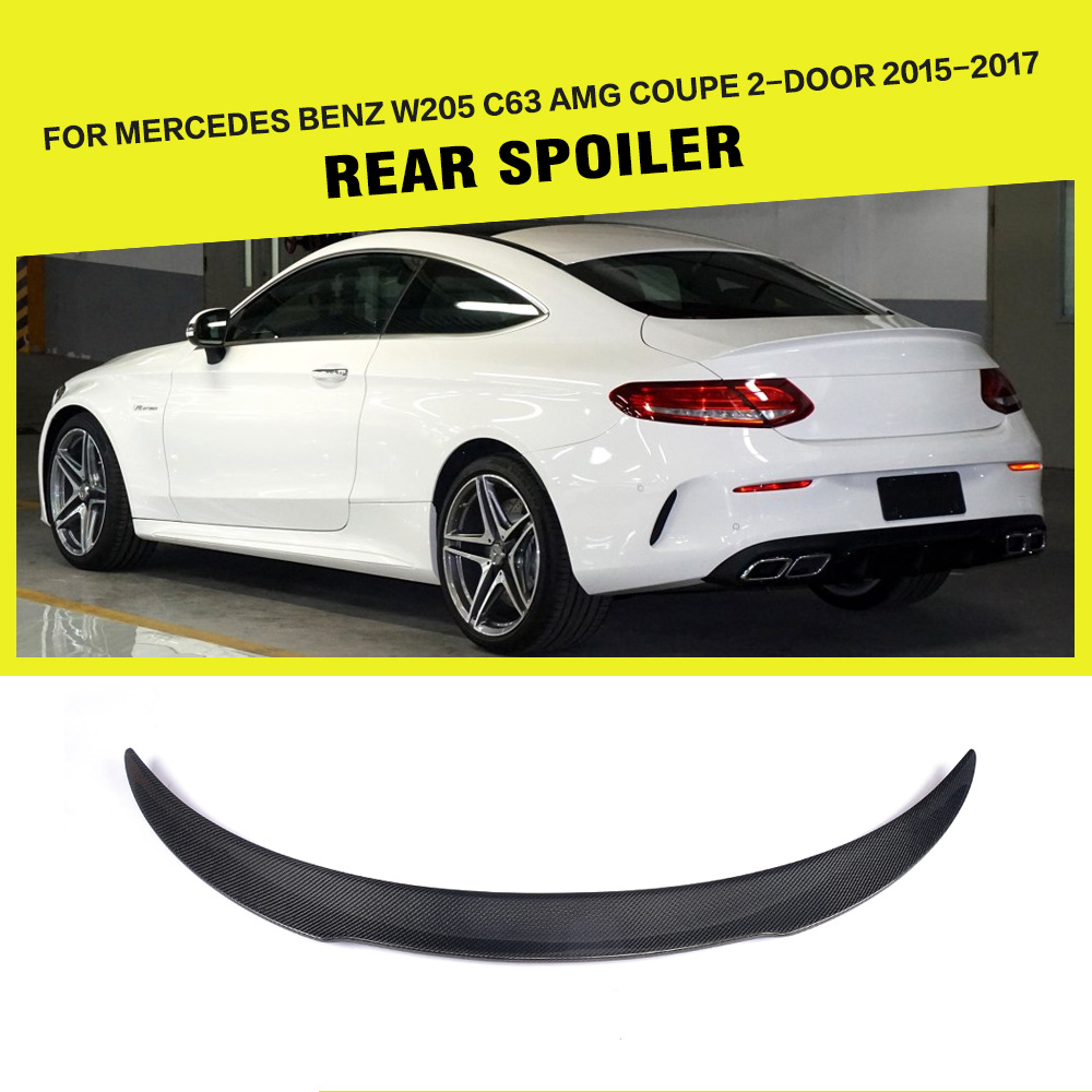 Carbon Fiber Racing Rear Spoiler Wing Lip for Mercedes Benz C-Class C205 C63 AMG Coupe 2-Door 2015-2017 цена