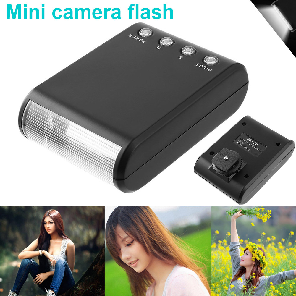 Universal Compatible Mini LED Camera Flash Speedlite External Protable Flashlight 8899