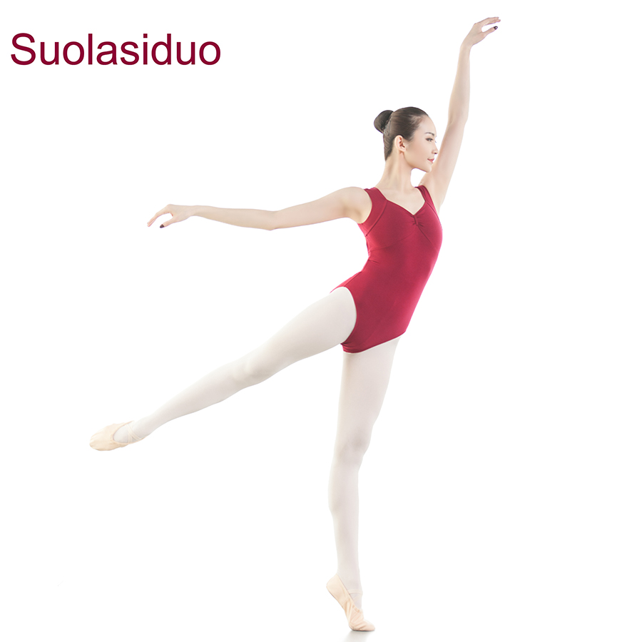 Jujube Red Ballet Training Gymnastics Dancewear Skirt Competition Dance for Women Stage Performance Practise Leotards