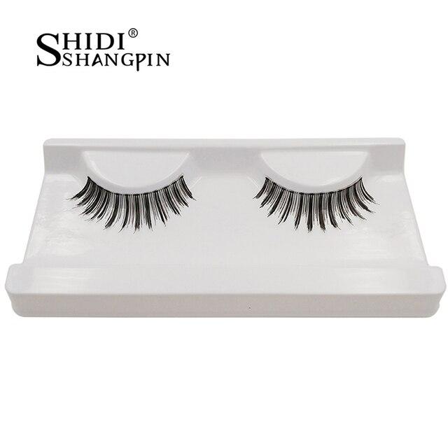 cf11a232999 shidishangpin eyelashes 1 pair false eyelashes tapered handmade fake eye  lashes Extension Makeup Super Natural Long Fake Eyelash