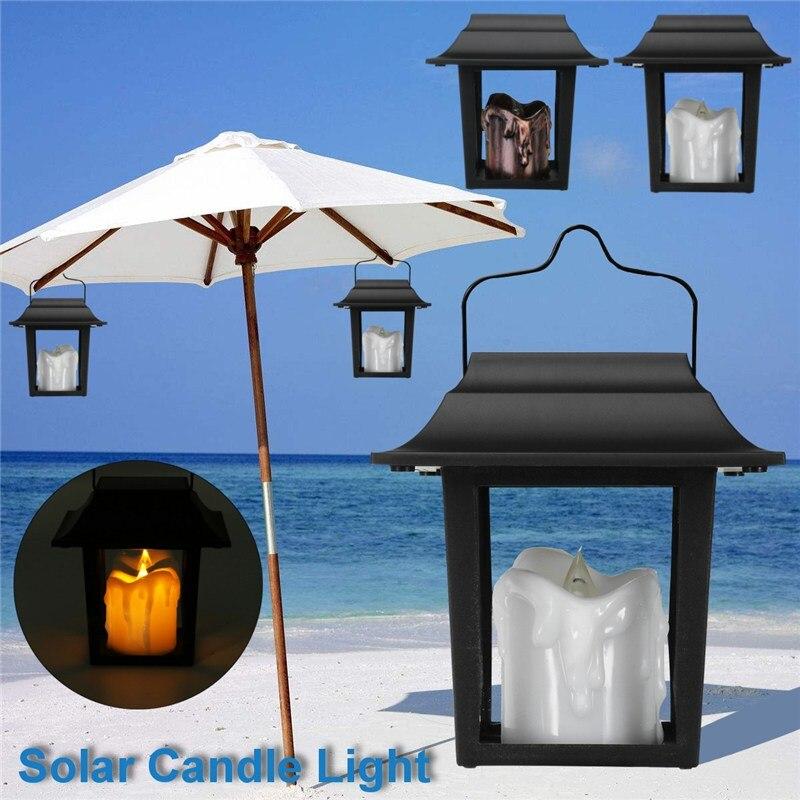 Versprechende Außen Solar Power LED Kerze Licht Yard Garten Dekoration Baum Palast Laterne Licht Hängen Hängen Wandleuchte
