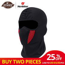 HEROBIKER Winter Balaclava Moto Face Mask Motorcycle Face Shield Airsoft Paintball Cycling Bike Ski Army Helmet Full Face Mask(China)