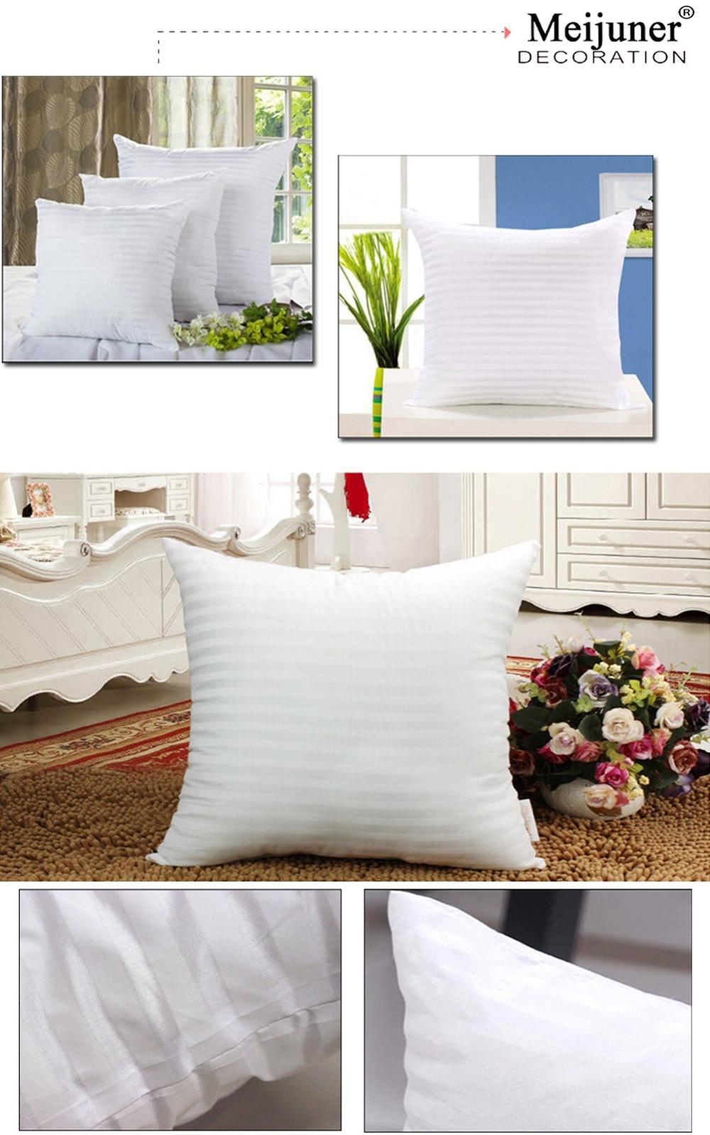 HTB1X2Qdcf1TBuNjy0Fjq6yjyXXaR Meijuner Square White Cushion Pillow interior Insert Soft PP Cotton for Home Decor Sofa Chair Throw Pillow Core Seat Cushion