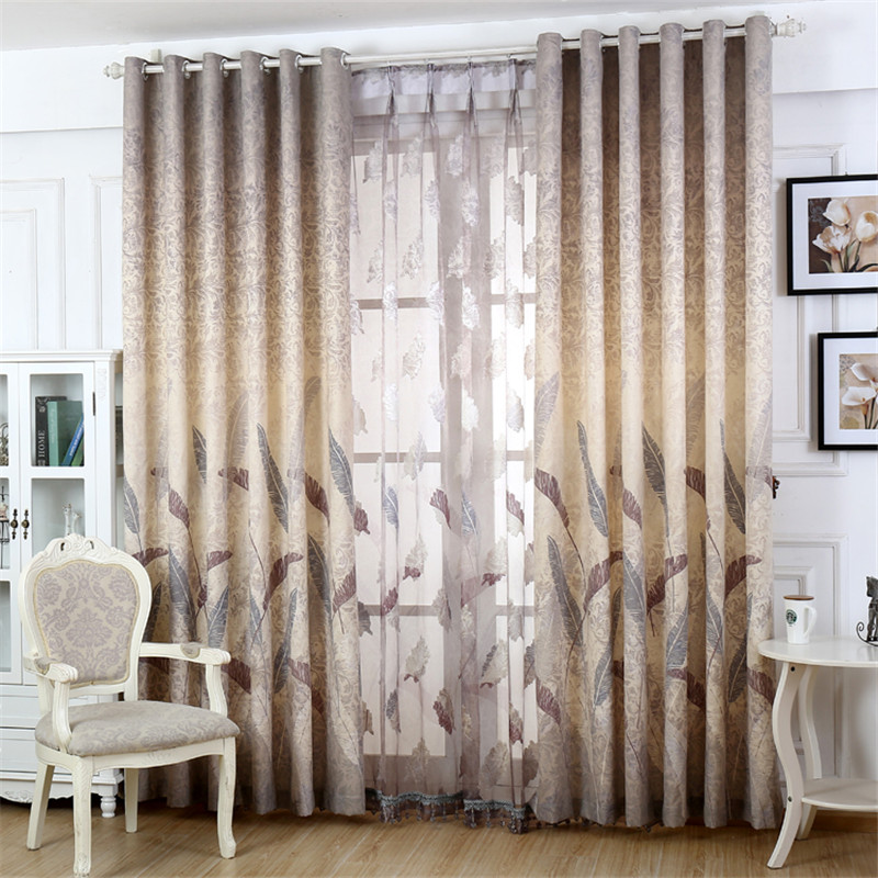 aliexpresscom buy home decor window cotton linen feather shading sheer curtains for the bedroom living room tulle curtain finished customization from - Home Decor Curtains