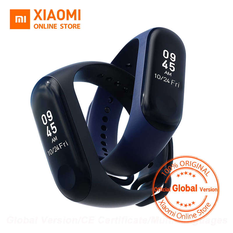 Global Version Xiaomi Mi Band 3 Miband 3 Smart Tracker Band Instant Message 5ATM Waterproof OLED Touch Screen Mi Band 3(China)