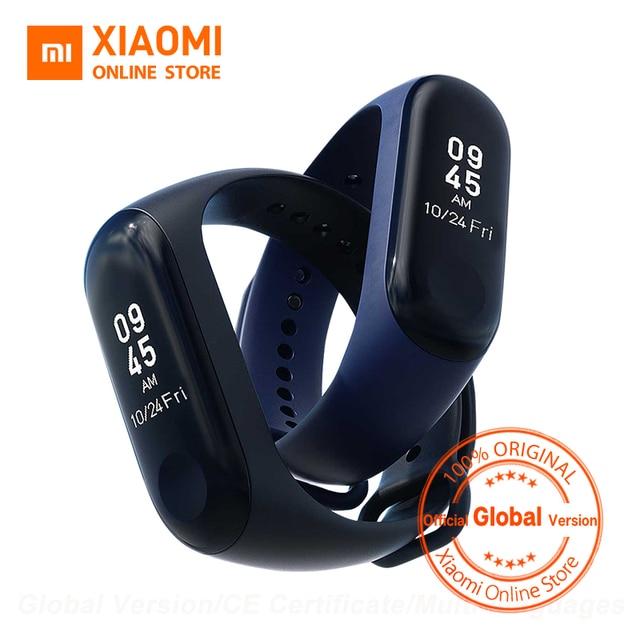Version mondiale Xiao mi bande 3 mi bande 3 Smart Tracker bande Message instantané 5ATM étanche OLED écran tactile mi bande 3