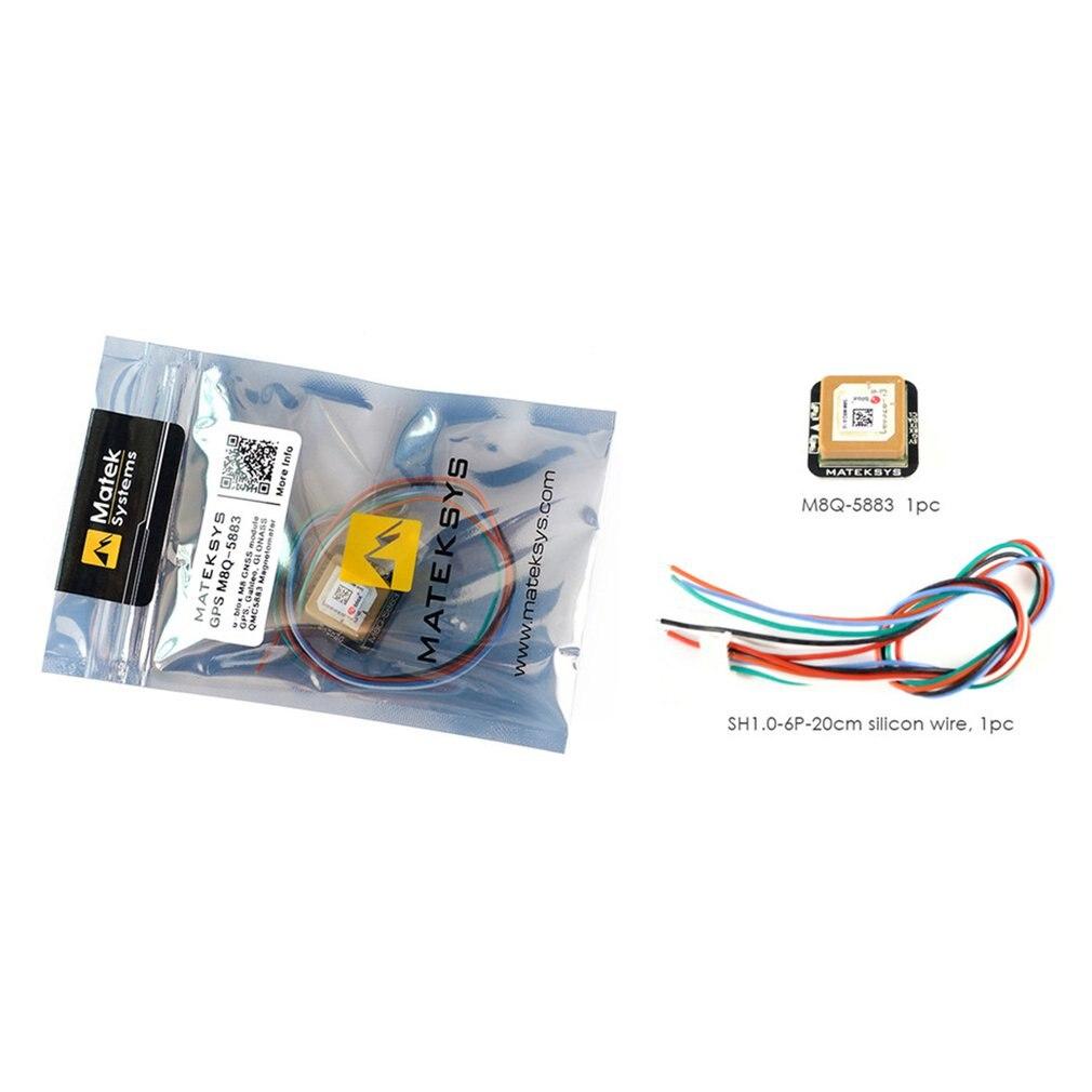 Matek Systems M8Q5883 Ublox SAMM8Q Mini GPS avec QMC5883L boussole Module pour RC FPV course Drone Qudcopter modèle jouet passe-temps pièces