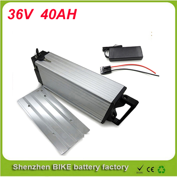 ebike 1000W lithium battery 36V 40AH Aluminium Case rear rack bike electric bicycle lithium battery for Sanyo Cell ebike 1000w lithium battery 48v 20 ah aluminium case rear rack bike electric bicycle lithium battery for samsung pack