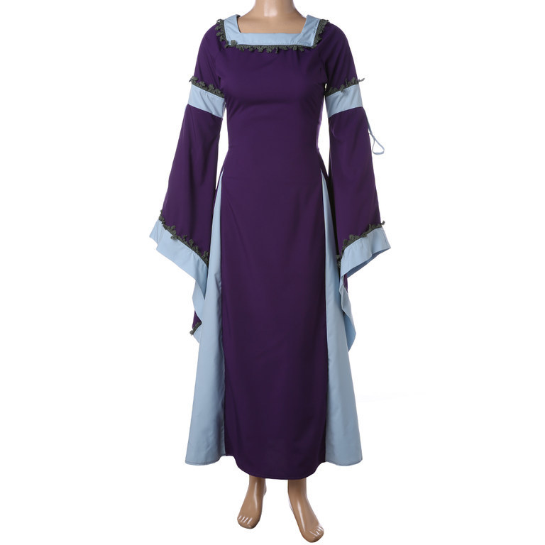 Medieval Costume For Adult Women Long Gown Dress Victorian Bell ... 9ef057d89c9f