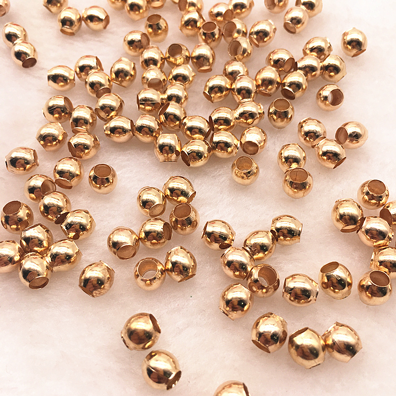 3-8mm Gold//Silver//Bronze Metal Beads Smooth Ball Spacer Beads For Jewelry Making