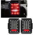 2x LED Integrado Luzes Da Cauda Do Carro Correndo Brake Turn Signal Reversa Luz de backup Lâmpada 12 V Para Jeep Wrangler JK Rubicon X 07 ~ 2015