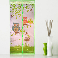 Durable Anti Mosquito Magnetic Tulle Door Curtain Animal Printed Curtain Summer Mosquito Mesh Net Magnet