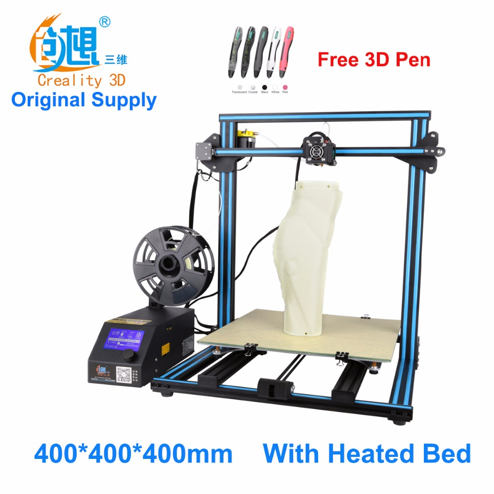 Crealit CR-10 S4  large printing size DIY desktop 3D printer 400*400*400 mm printing size  multi-type filament with heated bed new anet e10 e12 3d printer diy kit aluminum frame multi language large printing size high precision reprap i3 with filament